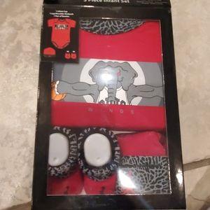 Air Jordan onesie 3 piece set